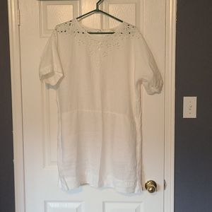Aritzia white linen mini dress